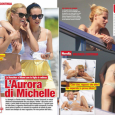 Continuano le vacanze in in Florida per Michelle Hunziker in compagnia della figlia Aurora e del bodyguard Tomaso Trussardi